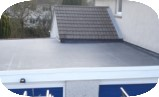 EPDM flat roof membrane used for double-garage roof